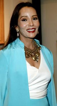 Barbara Carrera at the museum premiere of her paintings of Hollywood Legends.