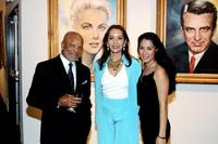Barbara Carrera, Barry Gordy Jr. and Lizzeth Padilla at the museum premiere of her paintings of Hollywood Legends.