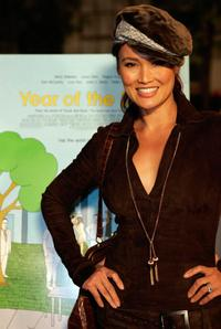 Tia Carrere at the premiere of the