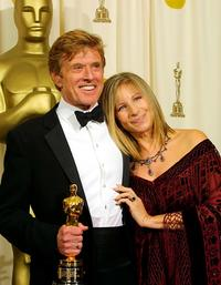 Barbra Streisand and Robert Redford at the 74th Academy Awards.