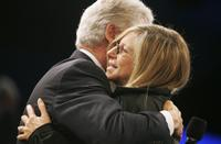 Barbra Streisand and former U.S. President Bill Clinton at the Clinton Global Initiative annual meeting.
