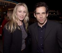 Christine Taylor and Ben Stiller at the premiere of
