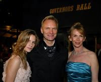 Trudie Styler, Sting and daughter Coco at the Governors Ball after the 76th Annual Academy Awards.