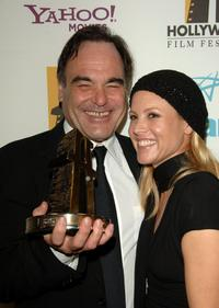 Oliver Stone and Maria Bello at The Hollywood Film Festival 10th Annual Hollywood Awards.