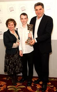 Imelda Staunton, Alex Etel and Jim Carter at the Television And Radio Industries Club Award Ceremony.