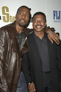 Robert Townsend and Leon at the launch party for