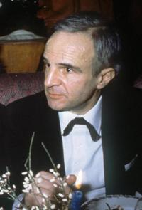 Francois Truffaut at the dinner event in Paris.