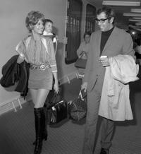 French film director Roger Vadim, wife US actress Jane Fonda and their child Vanessa at the Le Havre harbor.