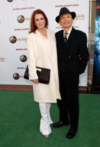 Joanna Cassidy and James Hong at the Jules Verne Adventure Film Festival Special Awards Presentation.