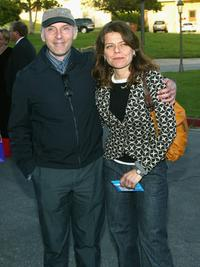 Dan Castellaneta and his wife at the premiere of the play