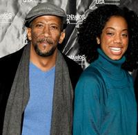 Reg E. Cathey and Keisa Willis at the premiere of