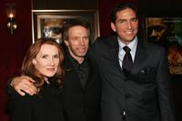 James Caviezel, Jerry Bruckheimer and his wife Linda Bruckheimer at the world premiere of