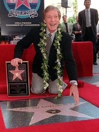 Richard Chamberlain at the unveiling ceremony on the Hollywood Walk of Fame.