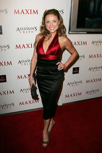 Christine Lakin at the launch of Ubisoft's 'Assassin's Creed' at the Club Opera in L.A.