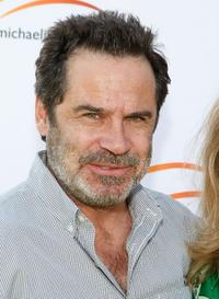Dennis Miller at the Michael J. Fox Foundation for Parkinson's Research Summer Lawn Party.