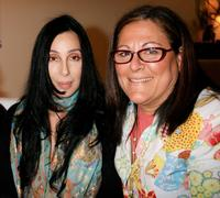 Cher and Fern Mallis at the Mercedes-Benz Fashion Week.