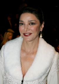 Shohreh Aghdashloo at the Sue Wong Spring 2006 show during Mercedes-Benz Fashion Week.