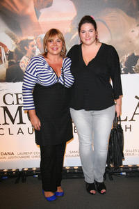 Michele Bernier and Charlotte at the Paris premiere of
