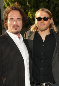 Kim Coates and Charlie Hunnam at the season two premiere of