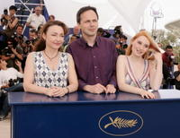Catherine Frot, Denis Dercourt and Deborah Francois at the photocall to promote