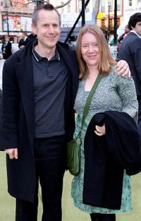 Jeremy Hardy and Guest at the premiere of
