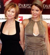 Corinna Harfouch and Jessica Schwarz at the premiere of