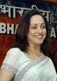Hema Malini at the function at BJP headquarters in New Delhi.