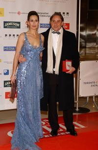 Lola Marcelli and Juanjo Puigcorbe at the European Film Awards 2004.