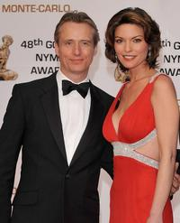 Linus Roache and Alana de la Garza at the Golden Nymph awards ceremony during the 2008 Monte Carlo Television Festival.