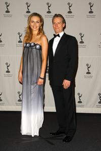 Michaela McManus and Linus Roache at the 36th Annual International Emmy Awards.