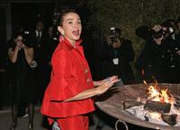 Victoria Abril at a party as part of the seventh Marrakech International Film Festival.