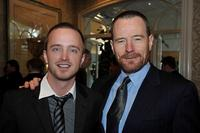 Aaron Paul and Bryan Cranston at the AFI Awards 2008 reception.