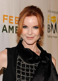 Marcia Cross at the Rock A Little, Feed Alot benefit concert in California.