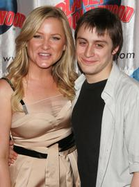 Kieran Culkin and Jessica Capshaw at the after party for the opening night for