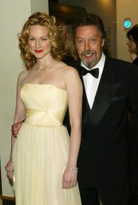 Tim Curry and Laura Linney at the Orange British Academy Film Awards.