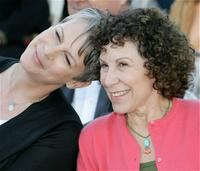 Jamie Lee Curtis and Rhea Perlman at the Ribbon-Cutting Ceremony For The City of Santa Monica's Library.