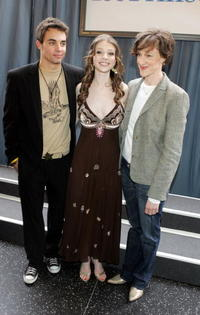 Trevor Blumas, Michelle Trachtenberg and Joan Cusack at the premiere of
