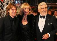 Willem Dafoe, German actor and jury member Mario Adorf and his wife Monique at the 57th Berlinale International Film Festival.