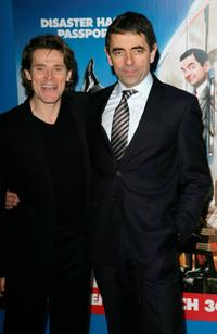 Willem Dafoe and Rowan Atkinson at the UK Premiere of