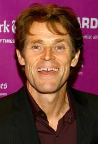 Willem Dafoe at the New York Film Festival.