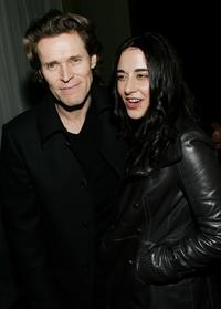 Willem Dafoe and Giada Colagrande at the Cinema Society & GQ Host A Screening Of
