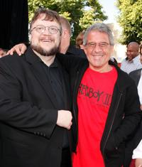 Guillermo del Toro and Ron Meyer at the world premiere of