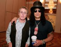 Roger Daltrey and Slash pose at the 10th Anniversary Of The Rock 'n' Roll Fantasy Camp.