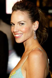 """Hilary Swank at the premiere of """"Iron Jawed Angels"""" in Los Angeles."""