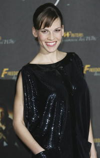 """Hilary Swank at a photocall to the German release of the film """"Freedom Writers"""" in Berlin, Germany."""