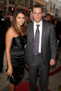Luciana Barroso and Matt Damon at the Canada Screening of