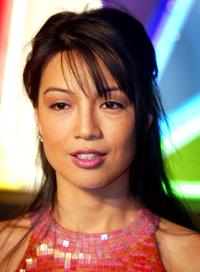Ming Na Wen poses for the photographers at the NBC's 75th anniversary all-star reception.