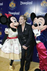 Julie Andrews at the Disneyland's 50th anniversary party.