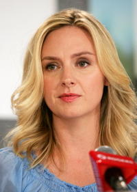 Hope Davis at a Toronto press conference for the film