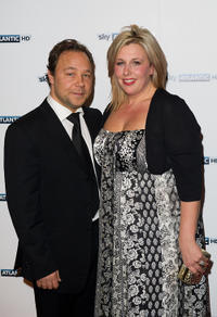 Stephen Graham and Hannah at the launch of the Sky Atlantic channel in England.